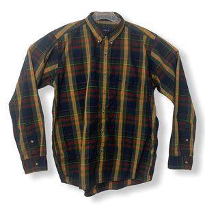 Gant Foxhunt Mens L Plaid Casual Button Down Shirt